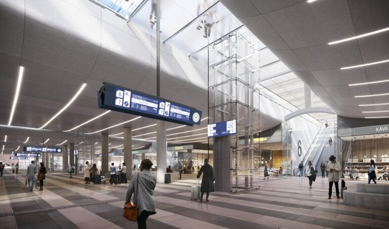Benthem Crouwel + West 8 win the international competition for the new Brno railway station - West 8